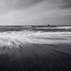 "Beach Ocean Photo black & white waves sky contrast 8x12"" print"